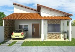 Projeto de casa com 2 suites e 1 Quarto - Cód. 99