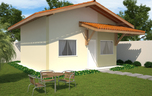 Planta de Casa Popular com 46 m2 - Cód. 100