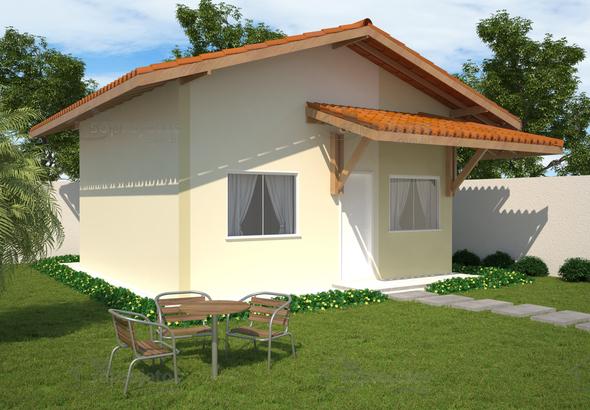 Planta de casa popular com 46 m2 c d 100 s projetos for Casa popular