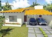Planta De Casa Terrea Com 3 Quartos E Varanda Gourmet Cod 104 Foto 1