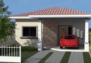 Casa Moderna com 2 quartos sendo um Suite