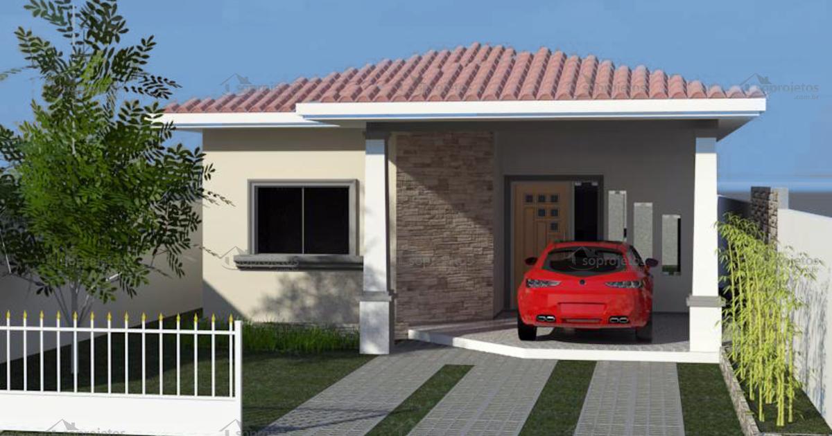 Casa moderna com 2 quartos sendo um suite c d 107 s for Fachadas de casas modernas de 2 quartos