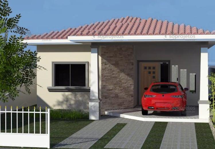 Casa moderna com 2 quartos sendo um suite c d 107 s for Casa moderna 80m2