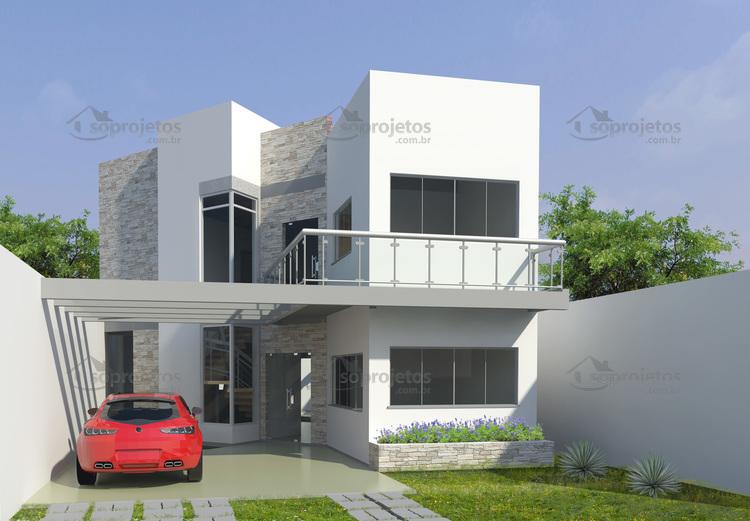 fachada Sobrado Moderno cod 106