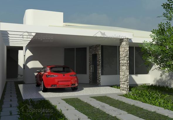 Ampla casa t rrea com varanda gourmet c d 110 s projetos for Casa moderna gardone