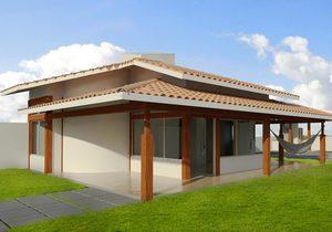 Planta de casa com 2 quartos e varanda - Cód. 113