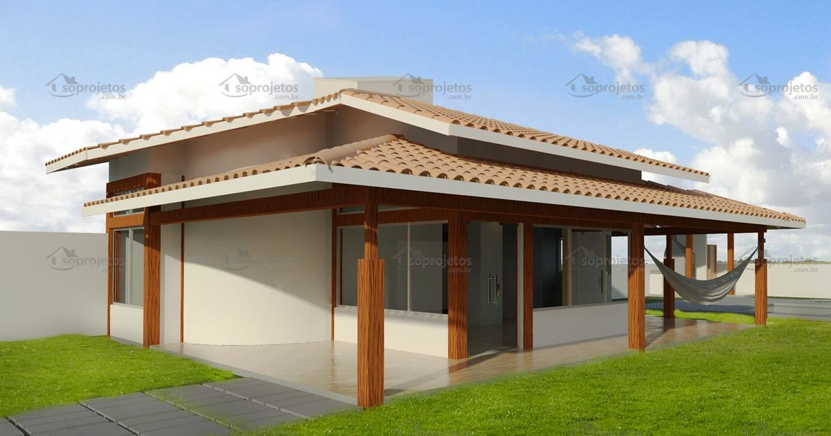Planta de casa com 2 quartos e varanda c d 113 s for Casa moderna 80m2