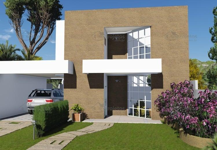Projeto de sobrado com 3 suites e garagem c d 120 s for Acabados apartamentos pequenos