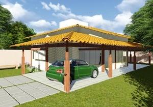 Versão do Cód. 113 com garagem - Cód. 131