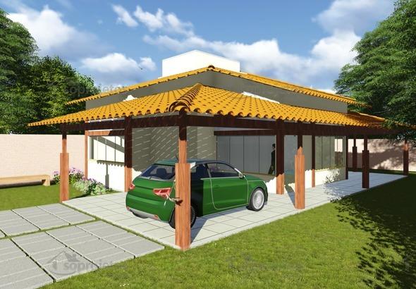 Planta de Casa - Versão do Cód. 113 com garagem - Foto 1