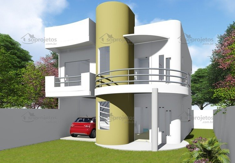 Plantas de Casas de amplo moderno sobrado - Foto 2
