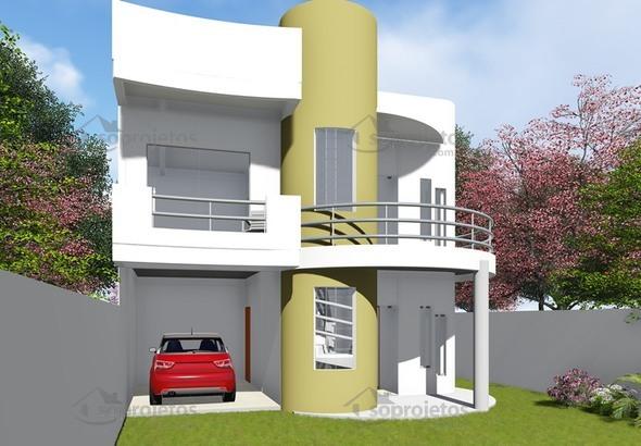 Plantas de Casas de amplo moderno sobrado - Foto 1