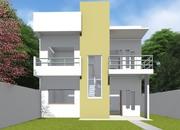 Planta de casa quadrada moderna