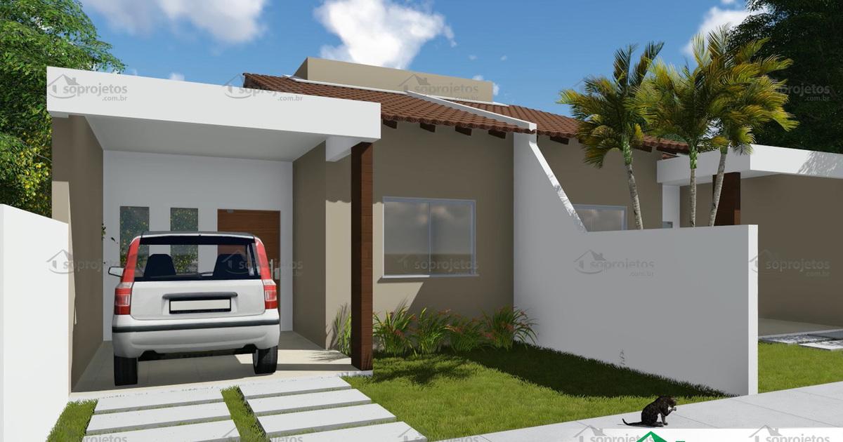 Projeto de casa t rrea geminada com 2 quartos c s for Casas modernas de 5 x 20