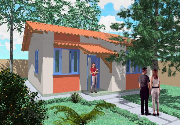 modelo de casa popular com 67 metros