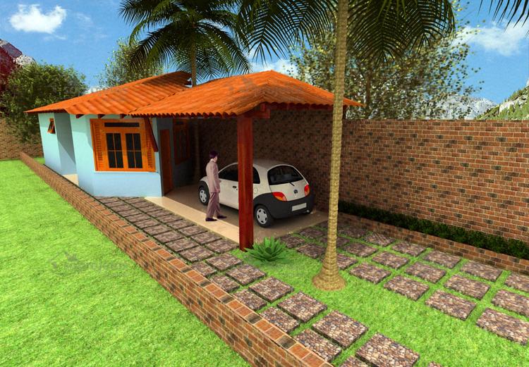 fachada da casa Pequena e Acolhedora cod 36 2