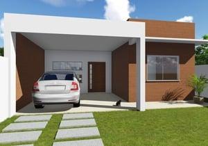 Modelo de Casa do Cód. 99 com Fachada Moderna - Cód. 136