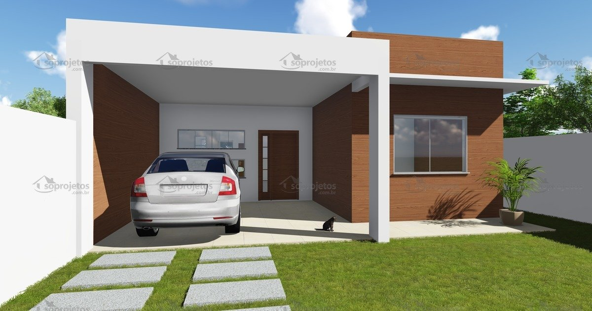 Modelo de casa do c d 99 com fachada moderna c s for Casa moderna 60 m2
