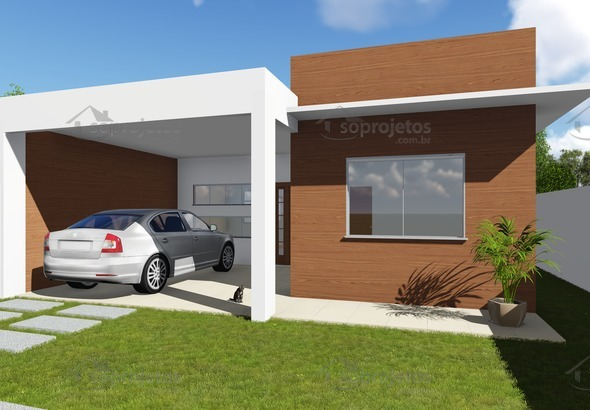 Modelo de casa do c d 99 com fachada moderna c s for Modelos de fachadas para casas